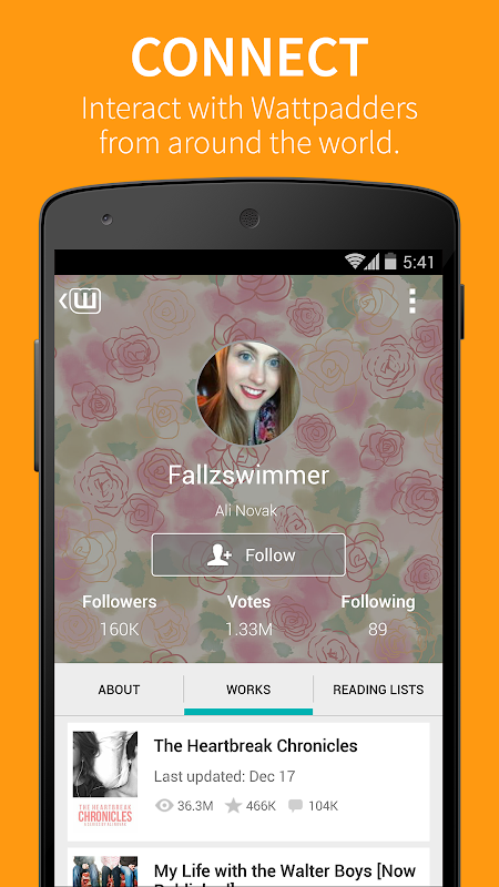 Android Wattpad Screen 3