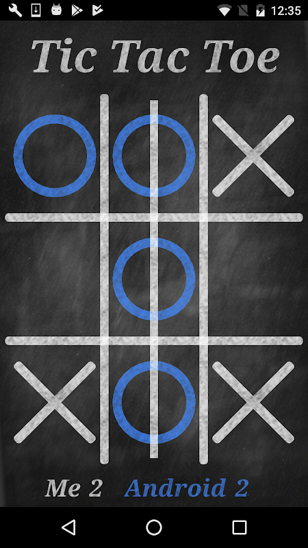 Android Tic Tac Toe Screen 1