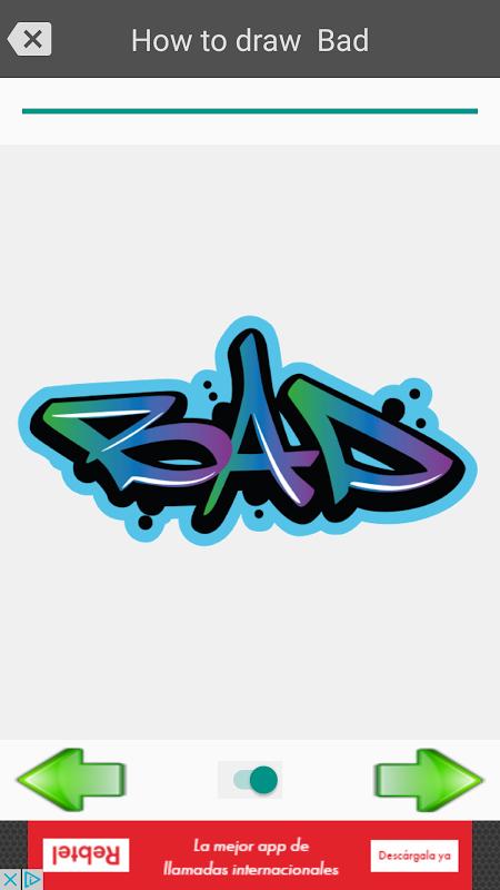Android Draw graffiti 3D Screen 6