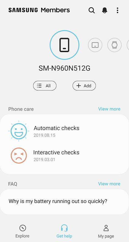 Samsung Members 3.3.00.19 Screen 1