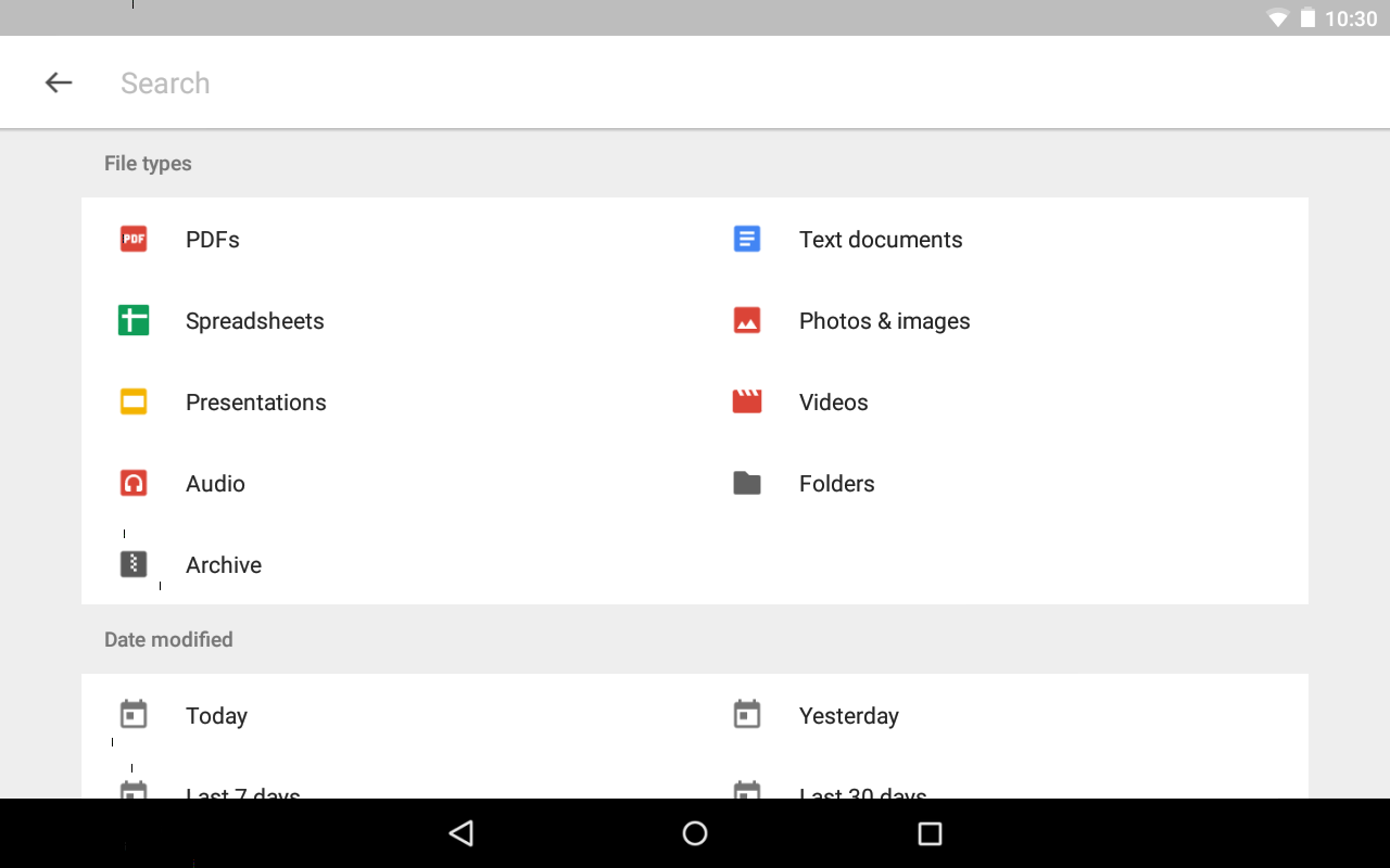 Google Drive 2.18.392.01.30 Screen 2