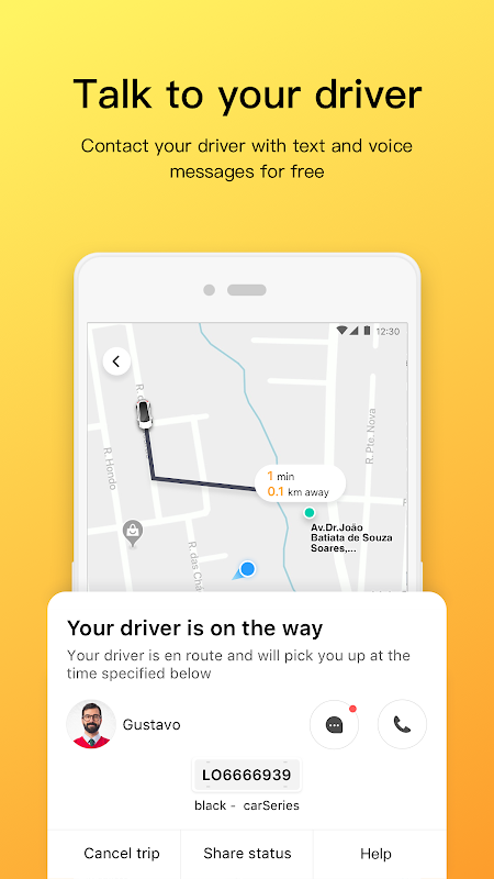 Android 99 - Taxi and private drivers Screen 2