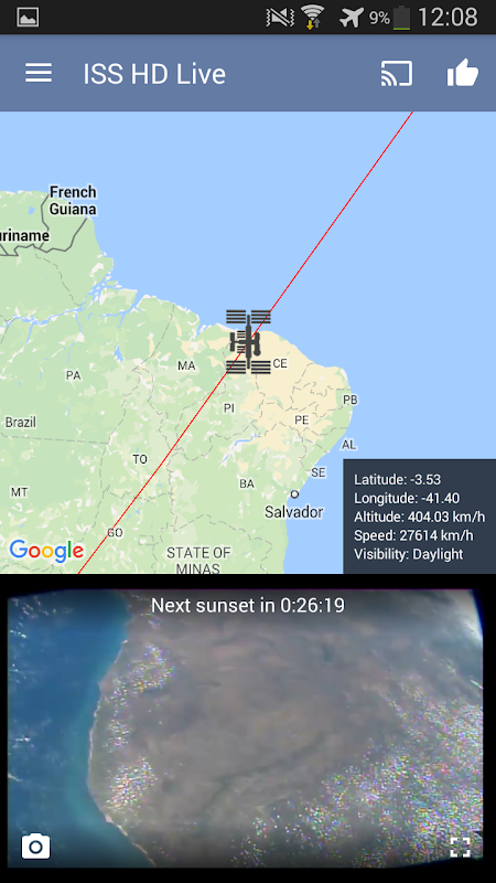 ISS HD Live: View Earth Live 5.4.3 Screen 22