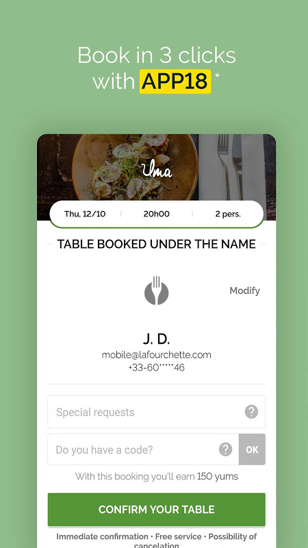 Android TheFork - Restaurants booking and special offers Screen 9