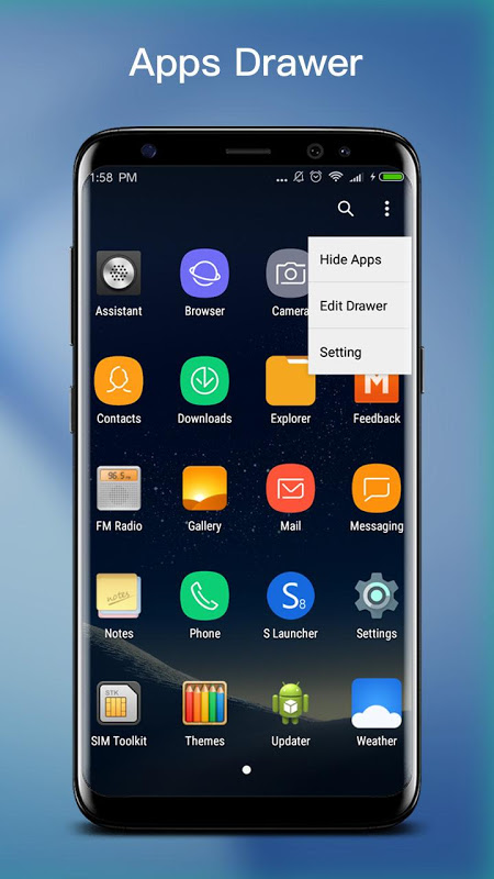 Android S S8 Launcher - Galaxy S8 Launcher, theme, cool Screen 2