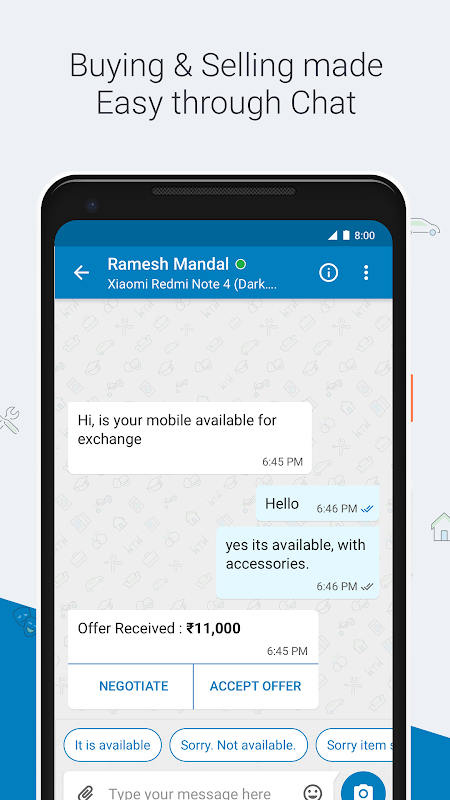 Android Quikr – Search Jobs, Mobiles, Cars, Home Services Screen 7