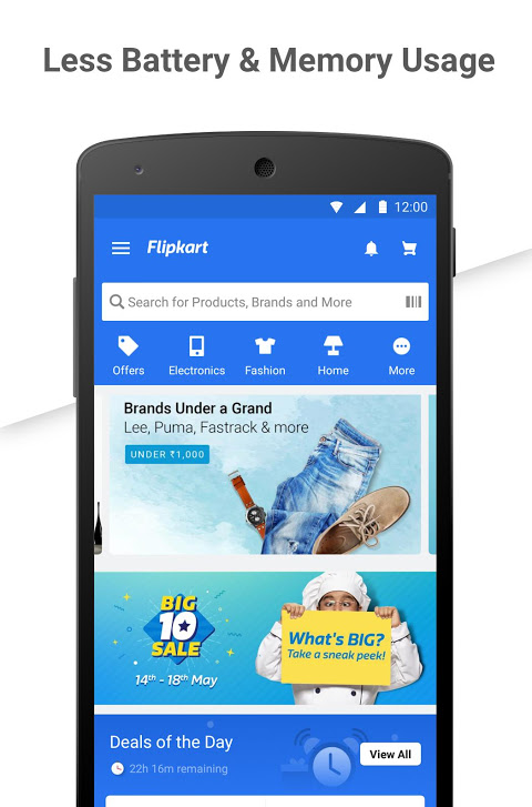 Android Flipkart Online Shopping Screen 1
