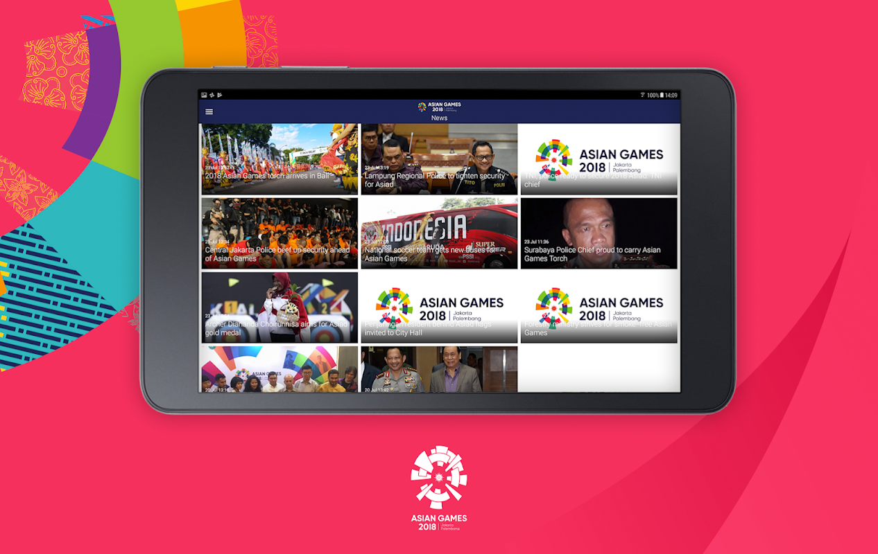 Android 18th Asian Games 2018 Official App Screen 8