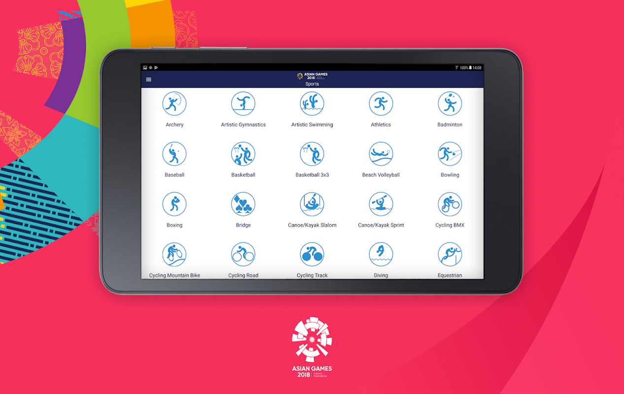 Android 18th Asian Games 2018 Official App Screen 11