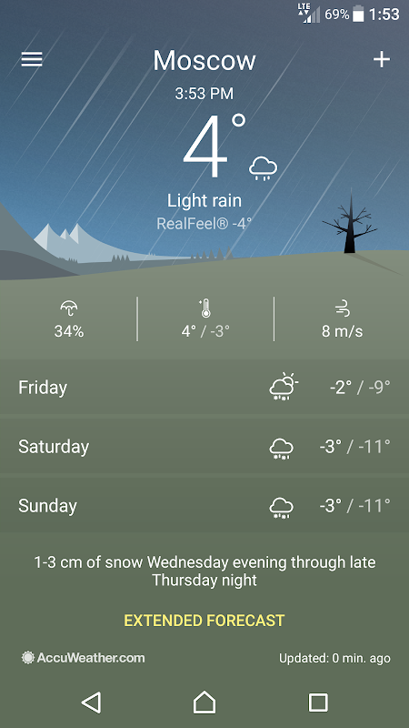 Android Sony Weather Screen 4