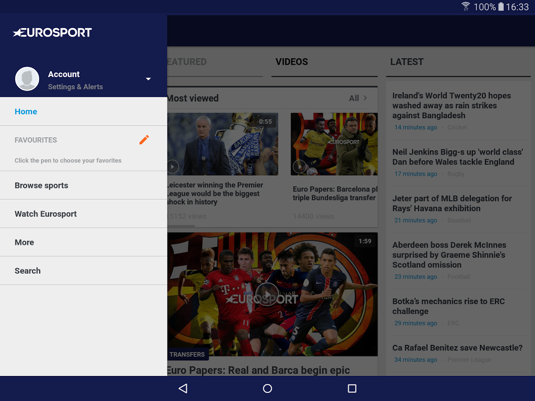 Android Eurosport Screen 13
