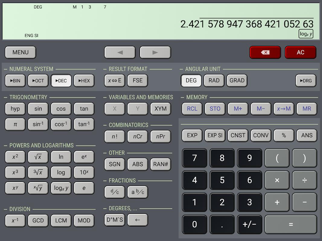 HiPER Scientific Calculator 6.1 Screen 13