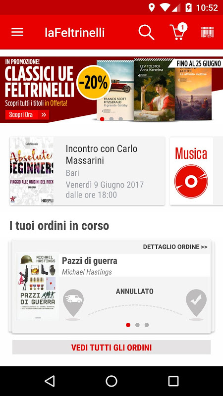 la Feltrinelli mobile 5.0 Screen 1