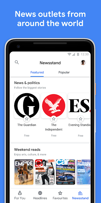 Android Google Play Newsstand Screen 4