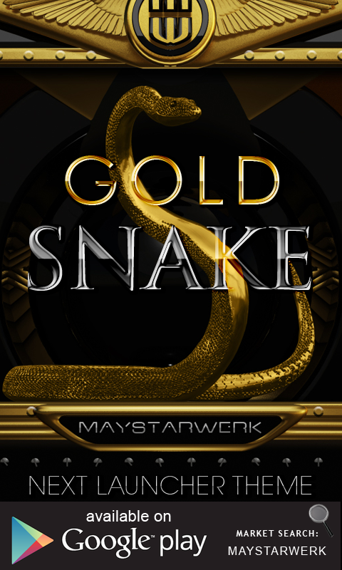 Android Gold Snake Clock widget Screen 4