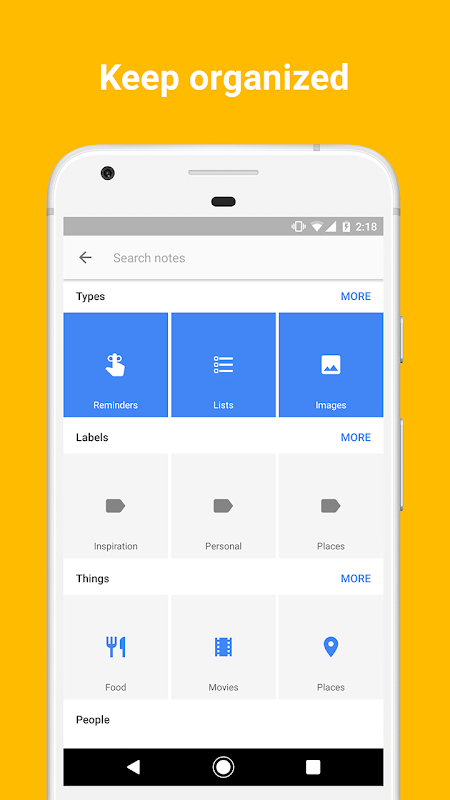 Android Google Keep - notes and lists Screen 7
