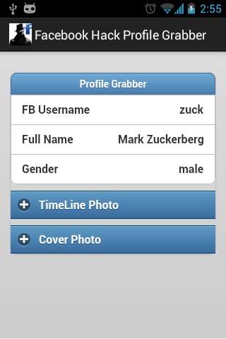 Facebook Hack Profile Grab 1 4 1 APK Download by RockerzTeam