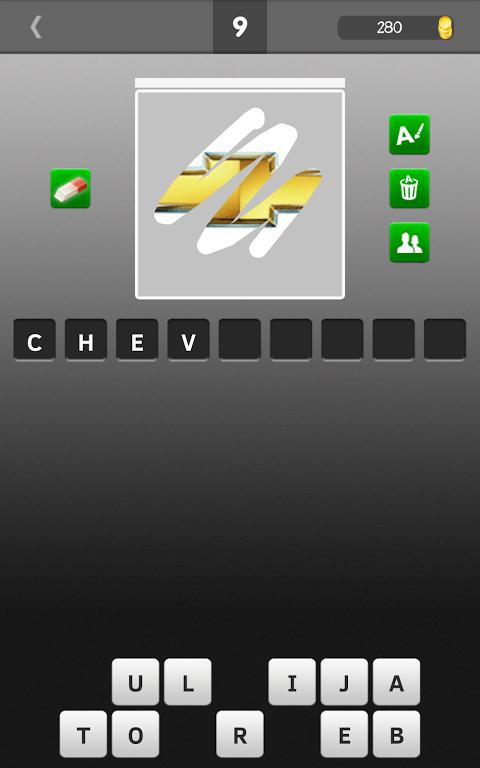 Android Scratch Car Logos Quiz Screen 3