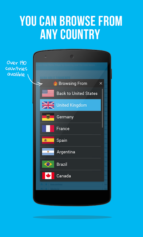 Android VPN - Hola Free VPN Screen 4
