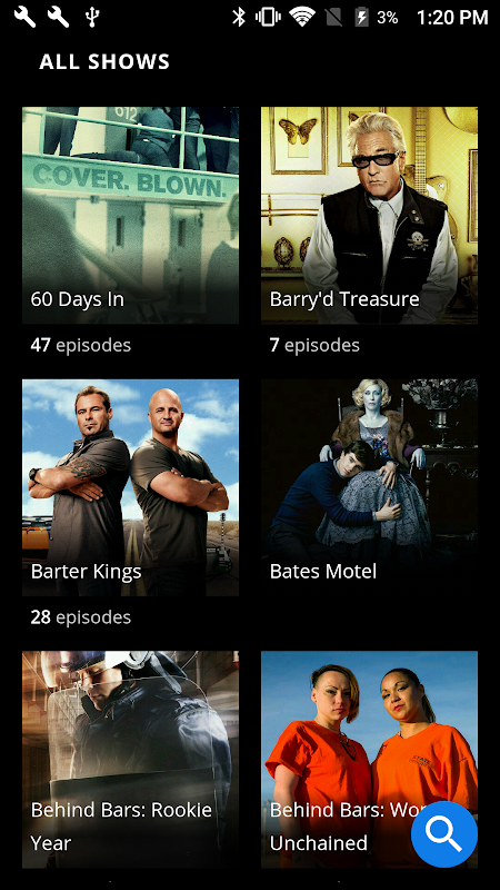 Android A&E - Watch Full Episodes of TV Shows Screen 1