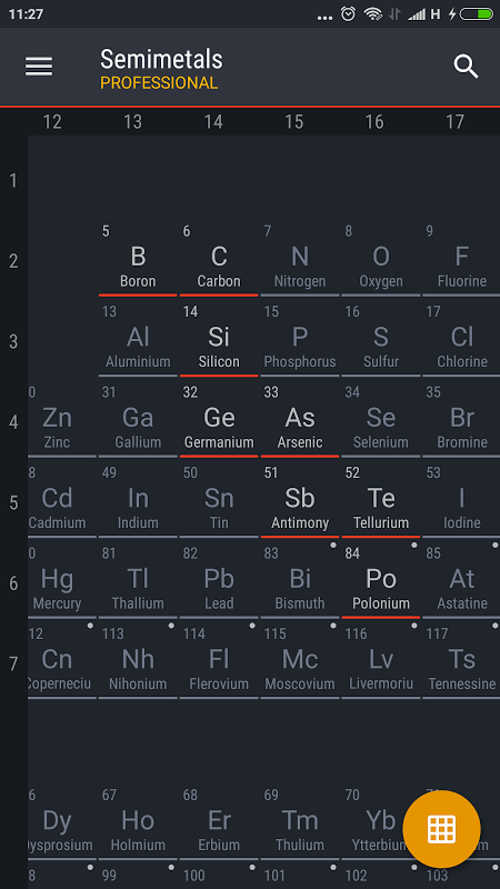Periodic table 2017 pro 0120 apk download by august software periodic table 2017 pro 0120 screen 5 urtaz Image collections