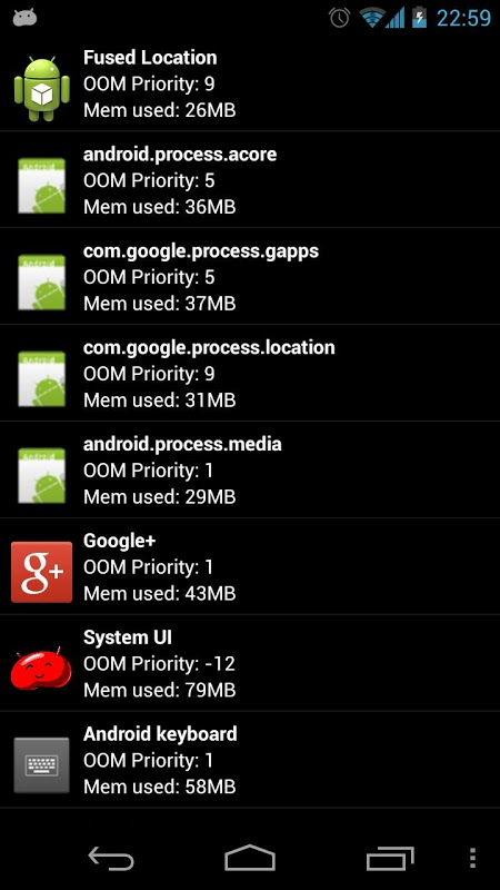 Android Auto Memory Manager Screen 6