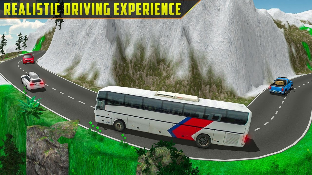 Android Offroad Bus Simulator Tourist Coach Driving Screen 1