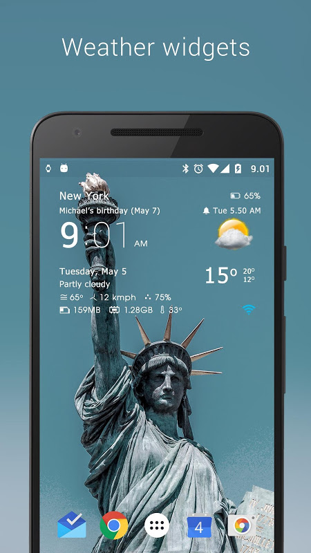 Android Transparent clock weather Pro Screen 15