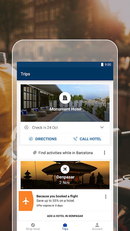 Expedia Hotels, Flights, Car Hires & Activities 18.49.1 Screen 1