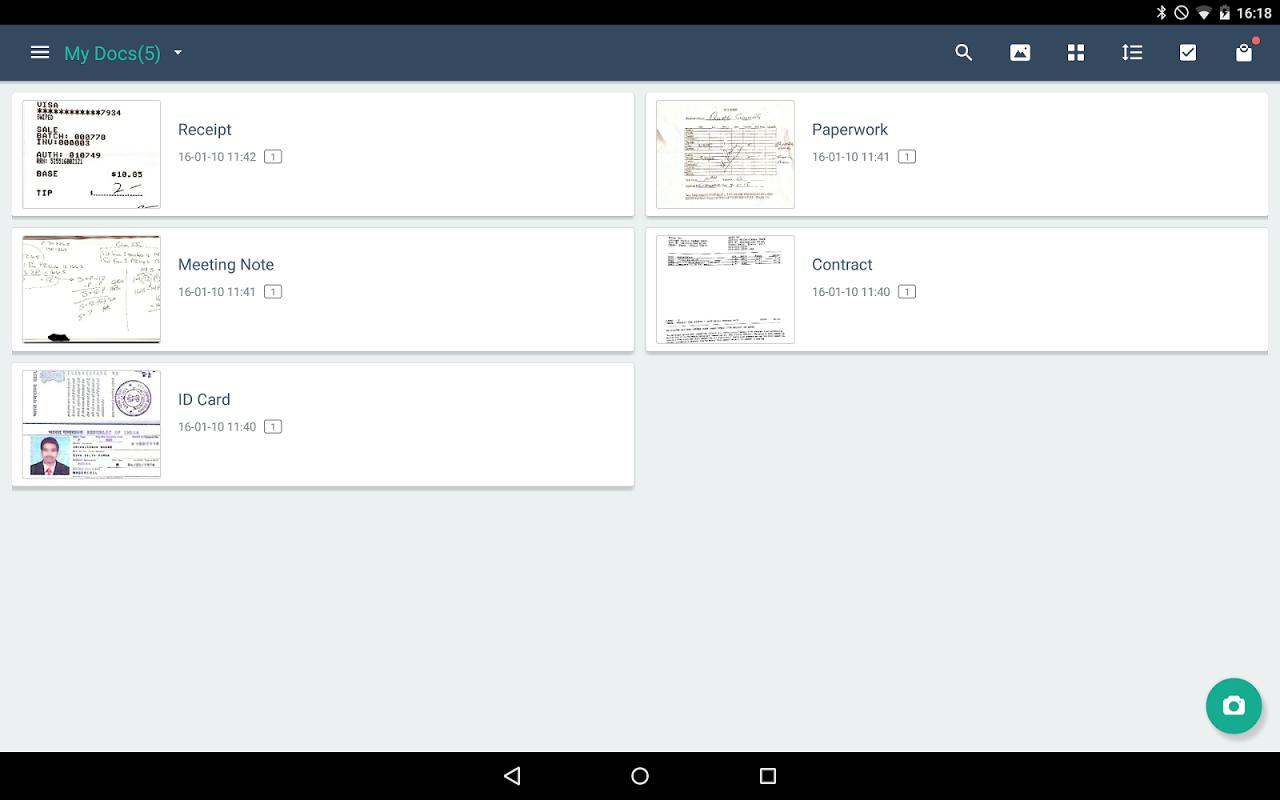 Android CamScanner -Phone PDF Creator Screen 17