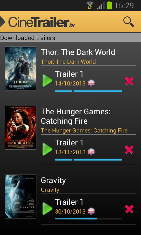 Android CineTrailer Cinema & Showtimes Screen 17