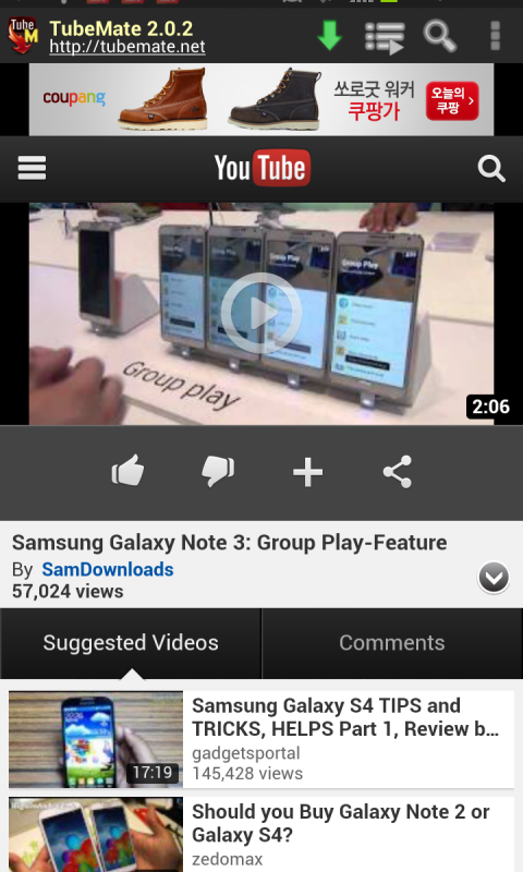 Android TubeMate YouTube Downloader Screen 5