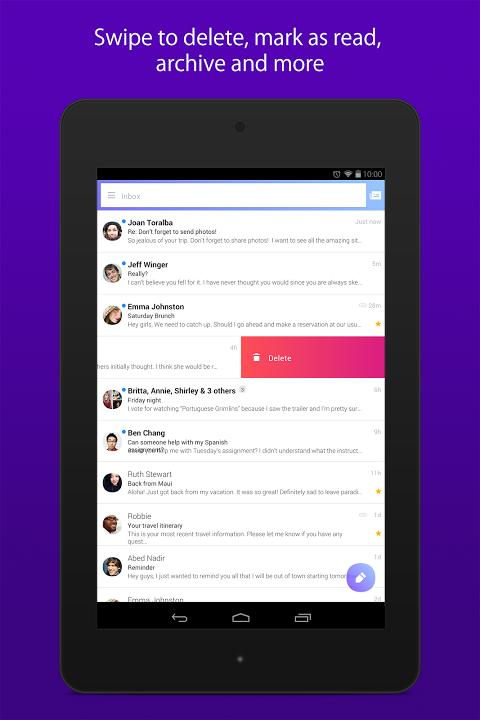 Yahoo Mail äóñ Stay Organised 5.25.0beta3 Screen 7