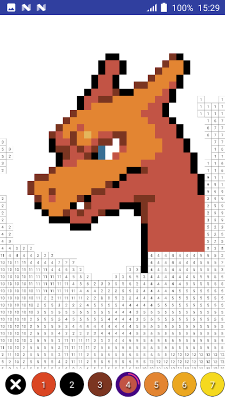 Android Color by Number Pokemon Pixel Art Screen 2