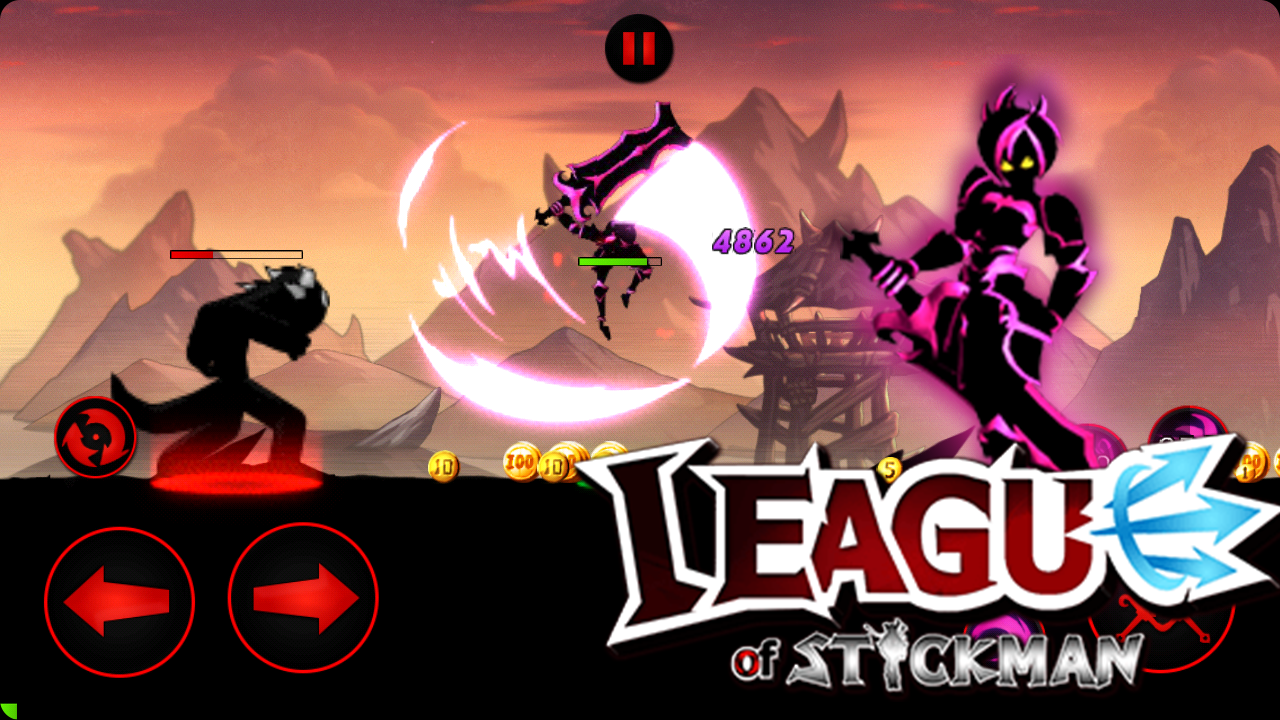 Android League of Stickman 2018- Ninja Arena PVP(Dreamsky) Screen 5