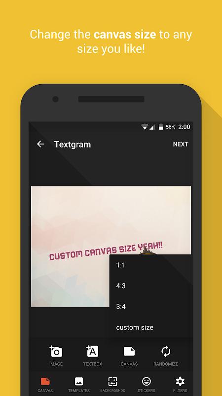 Android Textgram - write on photos Screen 1