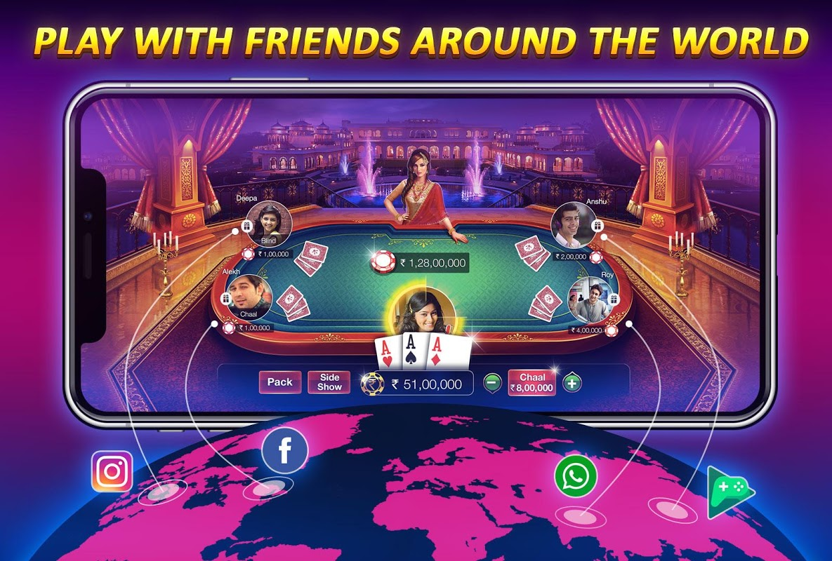 Android Teen Patti Gold - With Poker & Rummy Screen 2