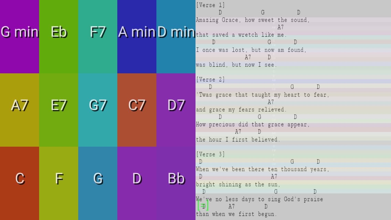 Android Color Autoharp Screen 3