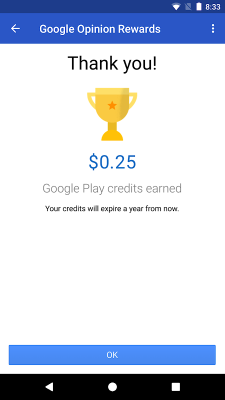 Android Google Opinion Rewards Screen 3