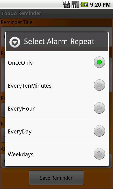 TooDo Reminder 3.0 Screen 1