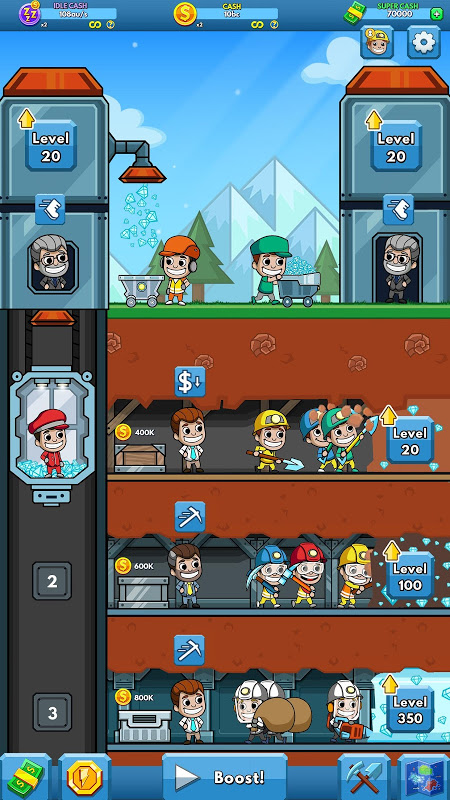 Android Idle Miner Tycoon Screen 12