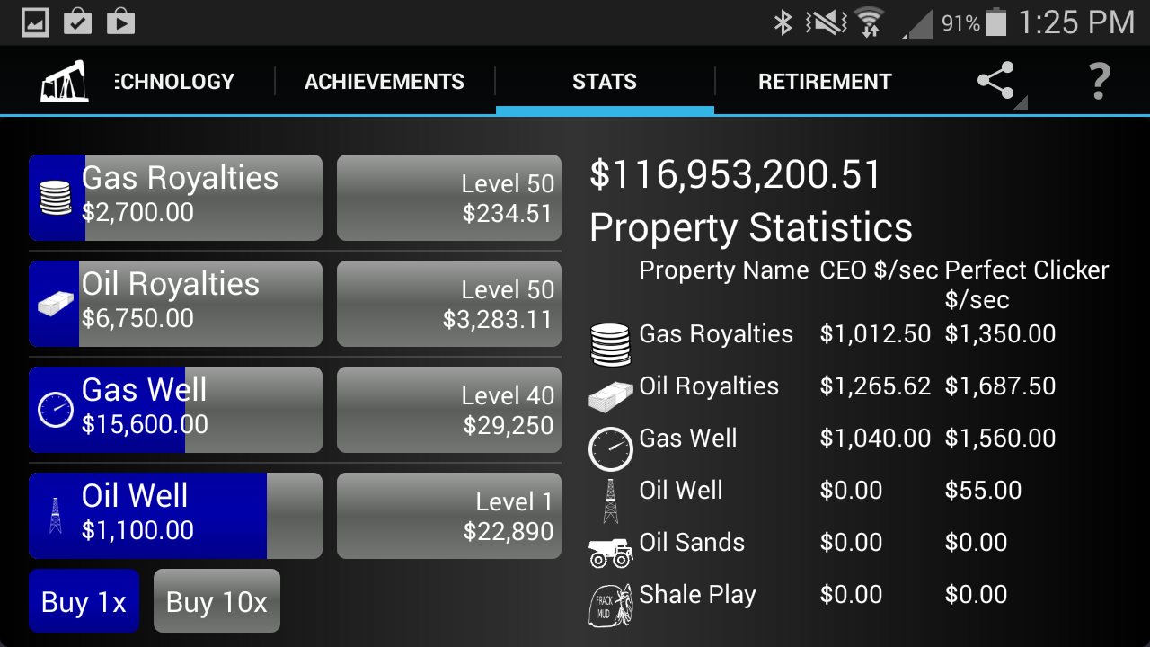 Android Idle Oil Tycoon Screen 7