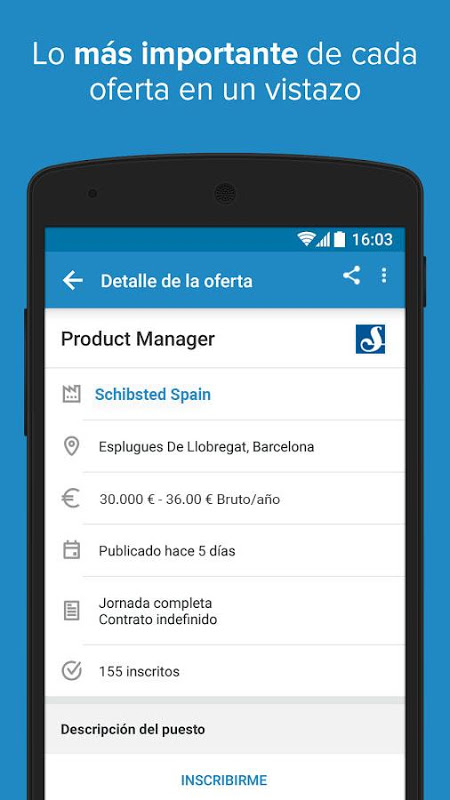 Android InfoJobs - Job Search Screen 4
