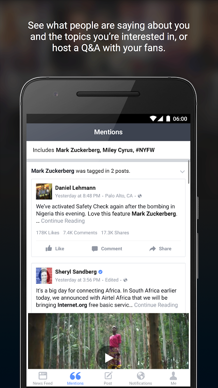 Android Facebook Mentions Screen 3