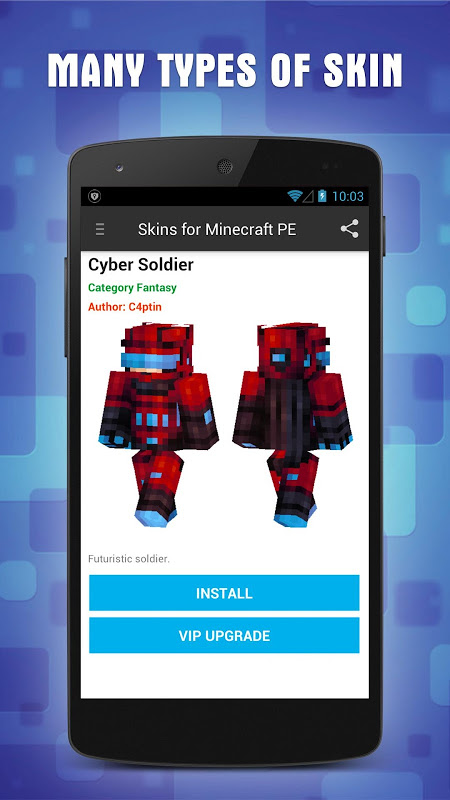 Android Skins for Minecraft PE Screen 2
