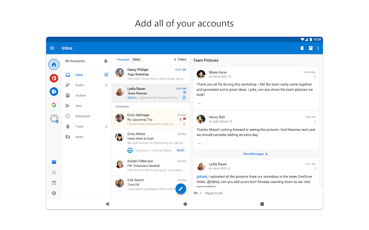 Android Microsoft Outlook Screen 5