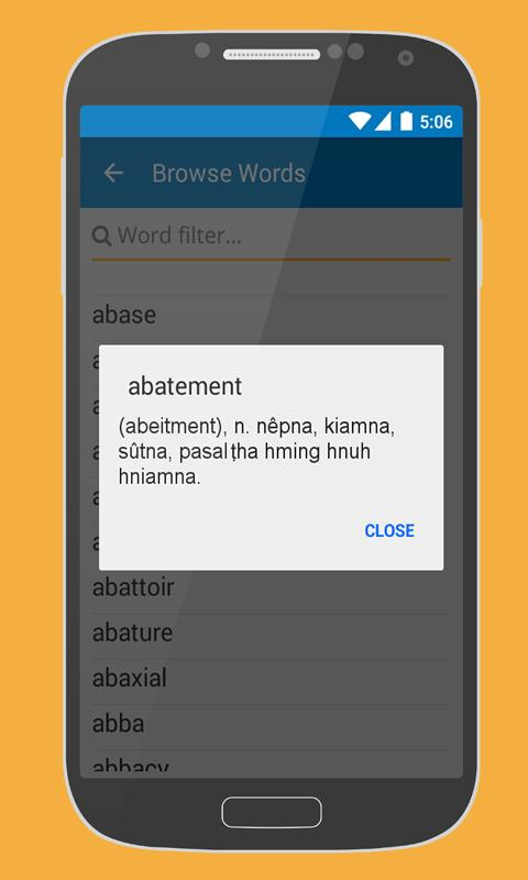 Android JF Dictionary Screen 4