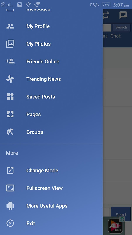 Fast lite dual mode for facebook 4.0 Screen 2