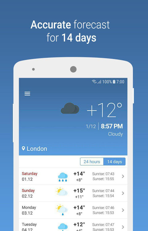 MeteoScope - Точная погода 1.3.7 Screen 1