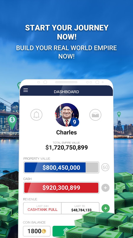 Landlord Tycoon - Money Investing Idle with GPS 2.1.4 Screen 4